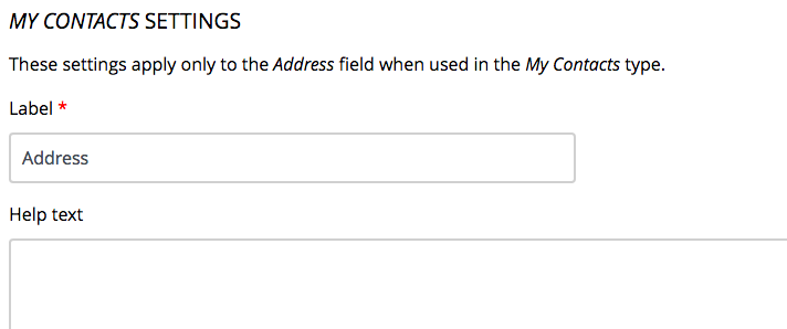 Help Text Field